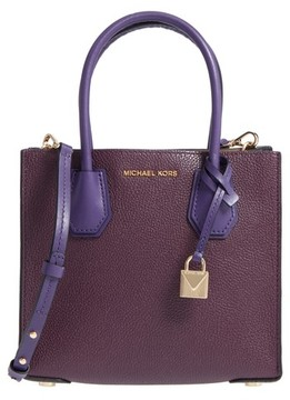 MICHAEL Michael Kors Medium Mercer Leather Tote - Purple - PURPLE - STYLE