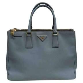 Prada Galleria Blue Leather Handbag