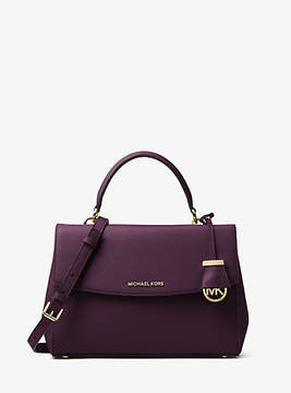 Michael Kors Ava Medium Saffiano Leather Satchel - PURPLE - STYLE