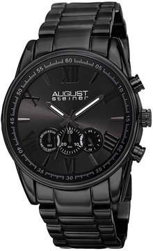 August Steiner Mens Black Strap Watch-As-8163bk