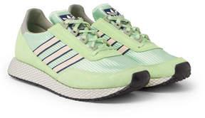 adidas Glenbuck Spzl Suede And Nylon Sneakers