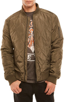 Sovereign Code Olive Bertie Quilted Bomber Jacket