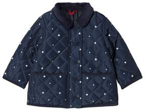 Cyrillus Navy Spot Quilted Jacket
