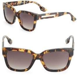 McQ 54MM Shiny Square Sunglasses