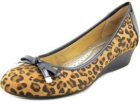 Karen Scott Pippa Open Toe Canvas Wedge Heel.