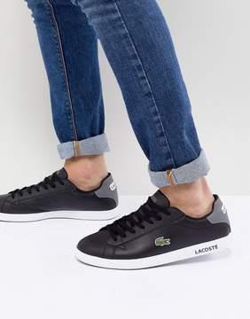 Lacoste Graduate Leather Sneakers In Black