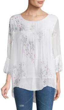 Le Marais Floral-Print Silk Top