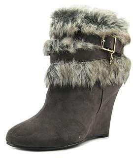 Thalia Sodi Saadie Women Round Toe Canvas Gray Ankle Boot.