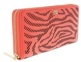 Roberto Cavalli Long Size Wlt W/zipper Audrey Coral Wallet
