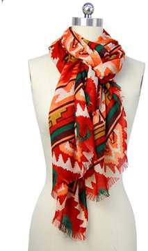 Saachi Womens Rust Tribal Scarf.