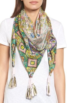 Johnny Was Women's Indianio Silk Square Scarf