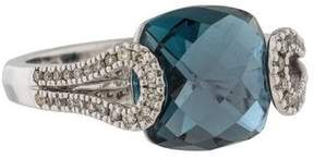 Di Modolo 18K Blue Topaz & Diamond Fiamma Cocktail Ring