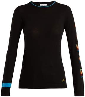 Bella Freud Power-intarsia wool-blend sweater