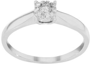 Damiani Bliss 18K White Gold & 0.17 ct Diamonds Engagement Ring
