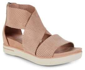 Eileen Fisher Sport3 Perforated Leather Sports Sandals