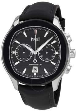 Piaget Polo S Black Horizontal Dial Automatic Men's Chronograph Watch