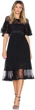 Three floor Midnight Midi Dress