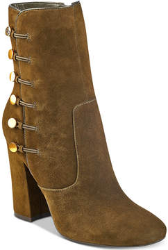 GUESS Women's Lucena Block-Heel Button Booties Women's Shoes