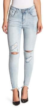 One Teaspoon Hellcat High Waist Distressed Skinny Jeans