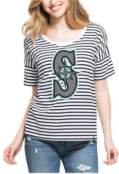 '47 Women's Seattle Mariners Coed Stripe T-Shirt