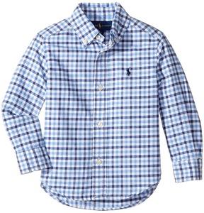 Polo Ralph Lauren Kids - Checked Cotton Oxford Shirt Boy's Clothing