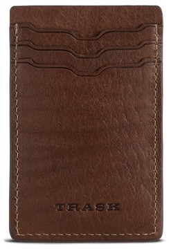 Trask Men's Jackson Money Clip Card Case - Brown
