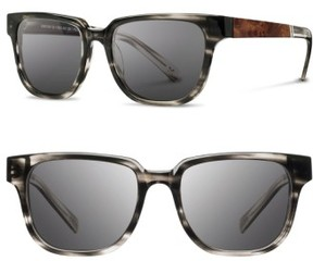 Shwood Men's 'Prescott' 52Mm Polarized Sunglasses - Pearl Grey/ Elm Burl/ Grey