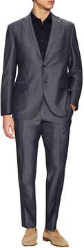 Lubiam Men's Wool Notch Lapel Buttoned Suit