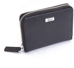 Royce Leather Royce RFID Blocking Saffiano Leather Mini Fan Wallet - Black