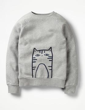 Boden Cat Graphic Sweatshirt