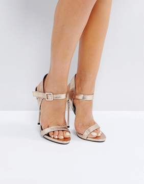 Public Desire Mercy Gold Barely There Heeled Sandals