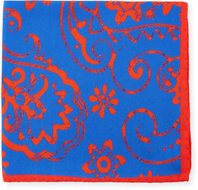 Bugatchi Paisley-Print Silk Pocket Square