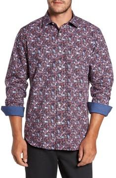 Bugatchi Men's Classic Fit Print Sport Shirt