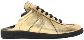 Maison Margiela 20mm Metallic Leather Mule Sneakers