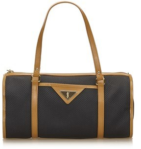 Saint Laurent Pre-owned: Pvc Handbag. - BLACK X BROWN - STYLE