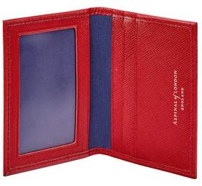 Aspinal of London Id Travel Card Case In Scarlet Saffiano
