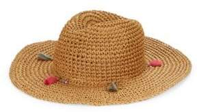 Echo Tassel-Accented Woven Paper Hat
