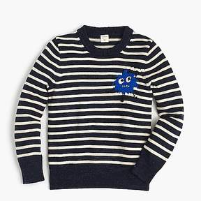 J.Crew Boys' striped Max the Monster cotton crewneck sweater