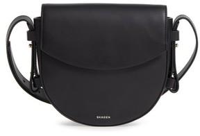 Skagen Lobelle Leather Saddle Bag - Black