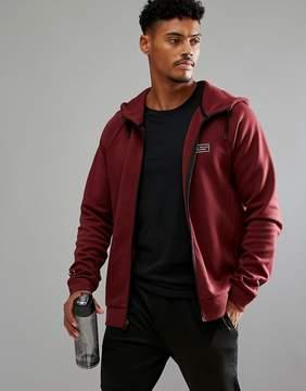 Jack Wills Sporting Goods Pembroke Hi Neck Zip Through Sweater In Red