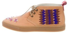 Del Toro Embroidered Leather Desert Boots