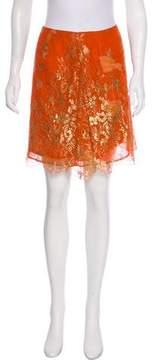 Christian Lacroix Knee-Length Lace Skirt