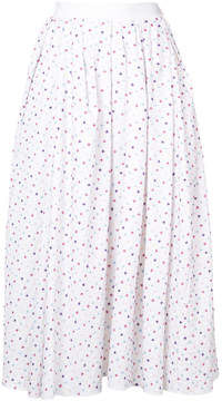 ADAM by Adam Lippes embroidered midi skirt