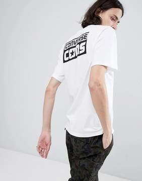 Converse Cons Logo Tee In White 10005693-A02
