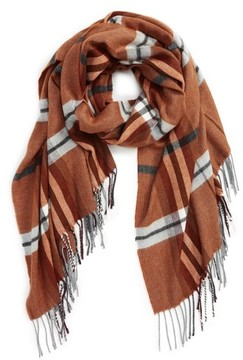 Topman Men's Plaid Blanket Scarf