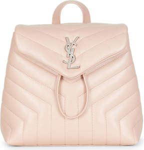 Saint Laurent Loulou quilted leather backpack - PALE BLUSH - STYLE