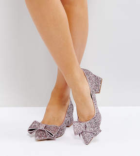 Asos SACRED Wide Fit Bow Mid Heels