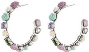 Dannijo Wonder Flower Hoop Earrings