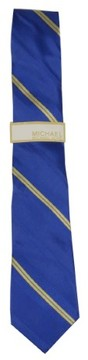 MICHAEL Michael Kors Men's Mid Rib And Texture Stripe Tie (Cadet Blue, OS)