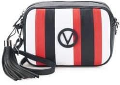 Mario Valentino Mia Striped Leather Crossbody Bag